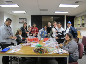 Holiday Bagging Party on Monday December 9, 2013 at the Boy Scouts Central Office